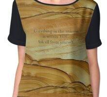 Rumi inspirational SPIRITUAL quote Chiffon Top