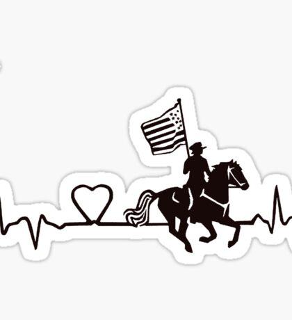 drill flag rider in black Sticker