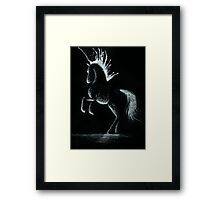 Lightning Rod: Minimal Abstract Horse Framed Print