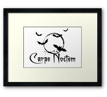 Carpe noctem, seize the night Framed Print