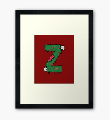 Z for Zombies Framed Print