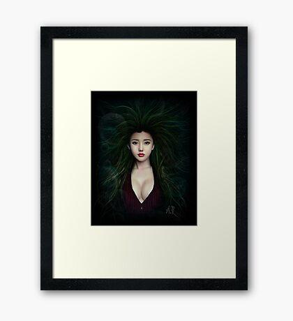 Fantasy Chinese Portrait Framed Print