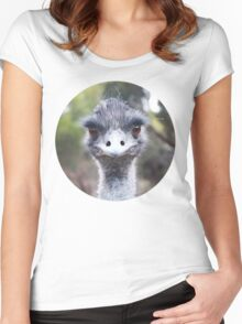 The Judging Emu - Comical Animals - Australia Women's Fitted Scoop T-Shirt
