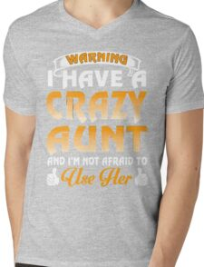 I have a Crazy Aunt xmas shirt Mens V-Neck T-Shirt