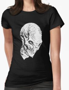 The Silence(whiteline)  Womens Fitted T-Shirt