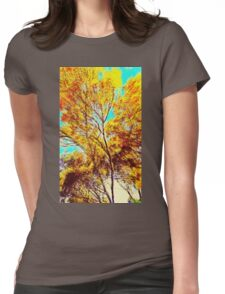 Vang Gogh Trees Womens Fitted T-Shirt