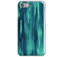 Abstract painting with turquise, green, blue color iPhone Case/Skin