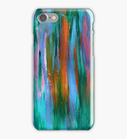 Abstract hand drawn background painted with acrylic and love iPhone Case/Skin