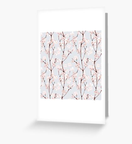 Blossom. Watercolor seamless floral pattern Greeting Card