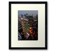 Glittering Skyscraper Framed Print