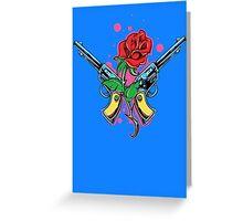 Guns and Rose Greeting Card
