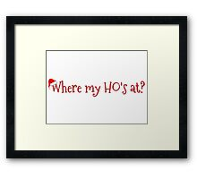 christmas party santa claus funny cool clever t shirts Framed Print