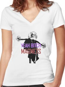 YEAH B****H MAGNETS Women's Fitted V-Neck T-Shirt