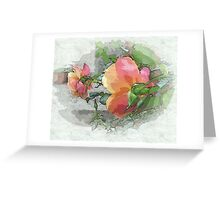 Behind the rose ...  Greeting Card
