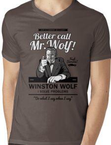 Better call Mr. Wolf Mens V-Neck T-Shirt