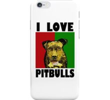 I Love Pitbulls, Black Font iPhone Case/Skin