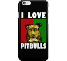 I Love Pitbulls, White Font iPhone Case/Skin