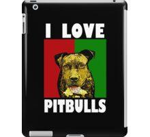 I Love Pitbulls, White Font iPad Case/Skin