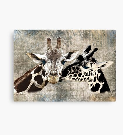 Snuggle Bug Giraffe Canvas Print