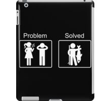 Fishing Solves Problems iPad Case/Skin