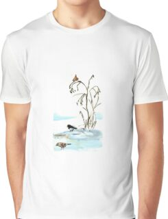 Snow Day Birds Graphic T-Shirt
