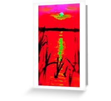 Reflection Of Light On A Lake Greeting Card