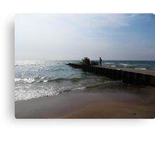 Looking at the Waves Canvas Print