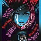 Poster for Moira Scar | Deep Teens | Daisy World | Centre | Necromos | Burning Skies by caseycastille
