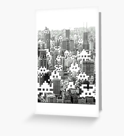 Space Invaders ! Greeting Card