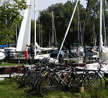 Sailboats &  Bicycles by Marie Van Schie