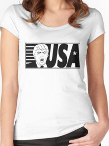 TRUMP SHOUT USA  Women's Fitted Scoop T-Shirt