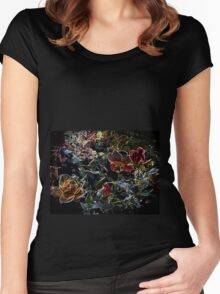 floral illumination Women's Fitted Scoop T-Shirt