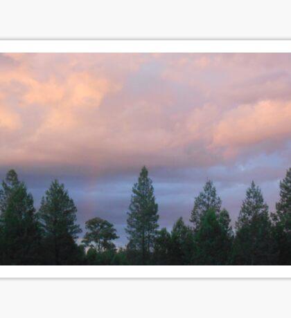 Bushfire clouds Sticker