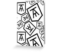 Twin Atlantic Logo | Fill Greeting Card