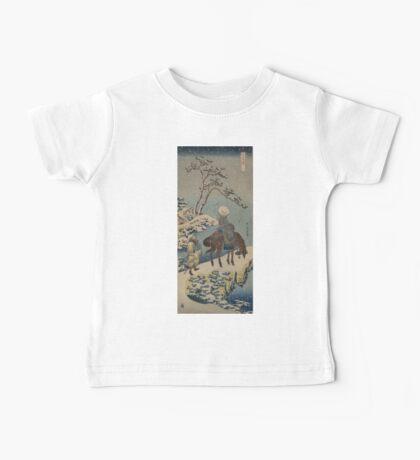 Two travelers, one on horseback - Hokusai Katsushika - 1890 Baby Tee