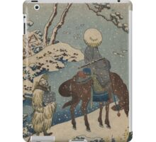 Two travelers, one on horseback - Hokusai Katsushika - 1890 iPad Case/Skin