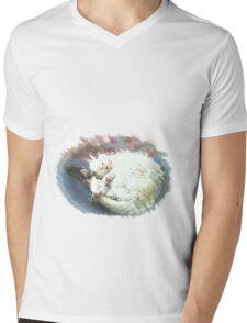 napping Mens V-Neck T-Shirt