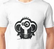 Elephant with nose piercings Unisex T-Shirt