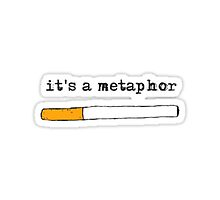 """it's a metaphor"" the fault in our stars design by Penny88805"