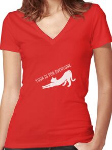 Yoga Is For Everyone Women's Fitted V-Neck T-Shirt