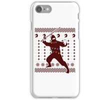 Ninja Hijacking Christmas Party Funny Ugly Sarcastic TShirt. iPhone Case/Skin