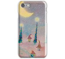 Christmas Night Village in the Snow iPhone Case/Skin