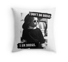 I Don't Do Drugs Throw Pillow