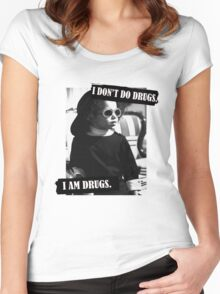 I Don't Do Drugs Women's Fitted Scoop T-Shirt