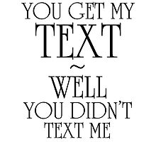 Did You Get My Text by AFLPaddy
