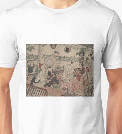 The restaurant Shikian of Nakazu - Shunman Kubo - 1784 Unisex T-Shirt