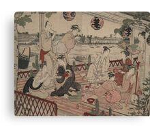 The restaurant Shikian of Nakazu - Shunman Kubo - 1784 Canvas Print