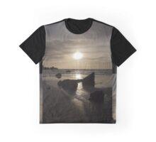Welsh Beach Sunset Graphic T-Shirt