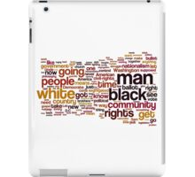 The Ballot Or The Bullet by Malcolm X Typography Art iPad Case/Skin