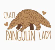 Crazy Pangolin Lady Kids Tee